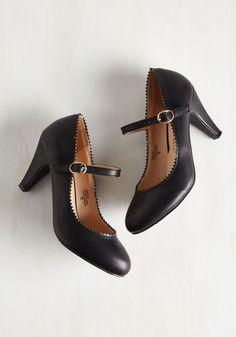 Heels - Romantic Revival Heel in Noir