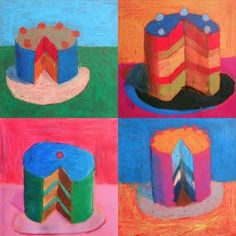 The cakes inspired by Wayne Thiebaud-andy Warhol spin 3rd grade