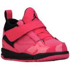 Jordan Flight 45 High - Girls' Toddler - Basketball - Shoes - Vivid Pink/Black/White