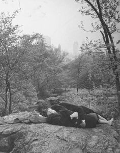 A soldier and his date relaxing in Central Park. 1943.
