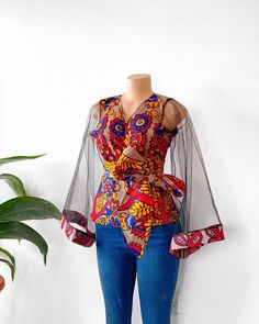 Short African Dresses, Latest African Fashion Dresses, African Print Fashion, African Print Dresses, Africa Fashion, Women's Fashion Dresses, Ankara Tops Blouses, Ankara Peplum Tops, Ankara Blouse