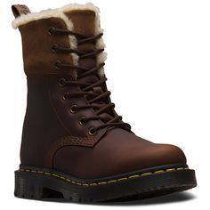 Get winterised. Even better: the boot's made with Snowplow, a grit-and-salt-resistant, water-resistant leather that's easy to clean. Red Doc Martens, Doc Martens Style, Doc Martens Outfit, Dr Martens 1460, Doc Martens Boots, Dr. Martens, Dm Boots, Lace Up Boots, Leather Boots