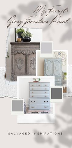 My FAVORITE Grey Furniture Paint | What's your fave Grey paint for Furniture? | Salvaged Inspirations #siblog #salvagedinspirations #paintedfurniture #furniturepainting #DIYfurniture #furniturepaintingtutorials #howto #furnitureartist #furnitureflip #salvagedfurniture #furnituremakeover #beforeandafterfurnuture #paintedvintagefurniture #roadsiderescues #chalkpaint #chalkpaintedfurniture #diyprojects #diyfurnituremakeover #furniturerestoration #furnitureideas #siblogquicktip #siblogquicktips Gray Painted Furniture, Salvaged Furniture, Grey Furniture, Chalk Paint Furniture, Furniture Restoration, Vintage Furniture, Best Gray Paint, Grey Paint, Diy Furniture Tutorials