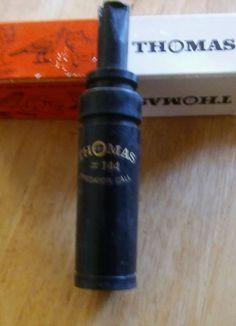 Vintage Hunting Decoy Deer Call Thomas Predator Game Call #144 w/ Orig. box  #thomas