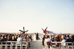 A Handmade Airplane Hanger Wedding: Kelly + Curtis – Part 2 | Green Wedding Shoes Wedding Blog | Wedding Trends for Stylish + Creative Brides