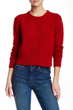 "Long Sleeve Crew Neck Merino Wool Sweater / Marc by Marc Jacobs / Reg. $248, $81.91 at Nordstrom Rack / Approx 20"" L"