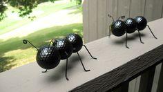 7 creative ways to reuse golf balls- I love the garden decor idea :D caterpillars, ants, lady bugs :D