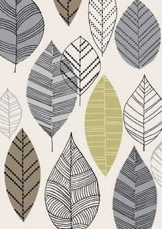 Autumn Leaves Natural, by Eloise Renouf on Etsy #pattern #leaves #modern