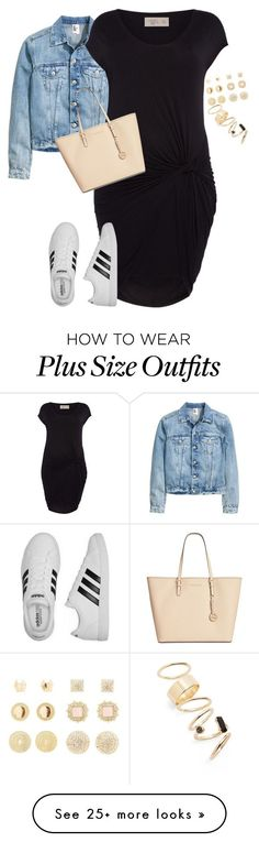 """Plus size easy college lk"" by xtrak on Polyvore featuring Label Lab, adidas, Charlotte Russe, BP. and Michael Kors"