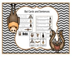 Bat Cards and Sentences from Preschool Printables on TeachersNotebook.com - (10 pages) - Bat Cards & Sentences 9 vocabulary cards 9 large vocabulary cards for pocket chart 9 sentence (I see…) Puppet Stick