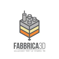 "Give a logo for a 3d printing company  ""Fabbrica 3d"" (3d Factory) by m●●dy"