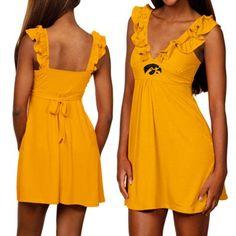Iowa Hawkeyes Ladies Gold Sorority Girl Sundress