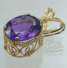 Tutorial: Amethyst Swirl Pendant by Wanda A | JewelryLessons.com