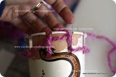 Tejer con niños: hacer una tejedora circular en casa