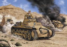 Mark I and Jag Panzer I in North Africa.