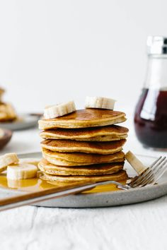 These paleo pancakes are a perennial breakfast winner. Made from a combination of coconut flour, tapioca flour and almond flour, they're light, fluffy and delicious. They're the best paleo pancakes and could easily be mistaken for traditional pancakes. Paleo Pancakes, Pancakes And Waffles, Low Carb Recipes, Real Food Recipes, Cooking Recipes, Cooking Bacon, Paleo Breakfast, Breakfast Recipes, Pancake Recipes