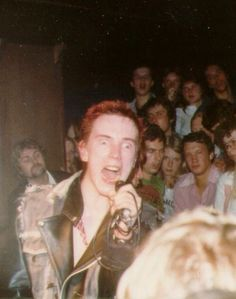 Johnny Rotten/John Lydon, The Sex Pistols, July 29 1977 in Linköping Sweden, by Kjell Holm Johnny Rotten, Here's Johnny, Ramones, Music Love, Good Music, Famous Aquarians, Photo Rock, Sid And Nancy, 70s Punk