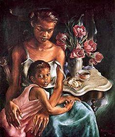 Primrose McPherson Paschal: Beulah's Baby, 1948 North Carolina Museum of Art                                                                                                                                                                                 Mo