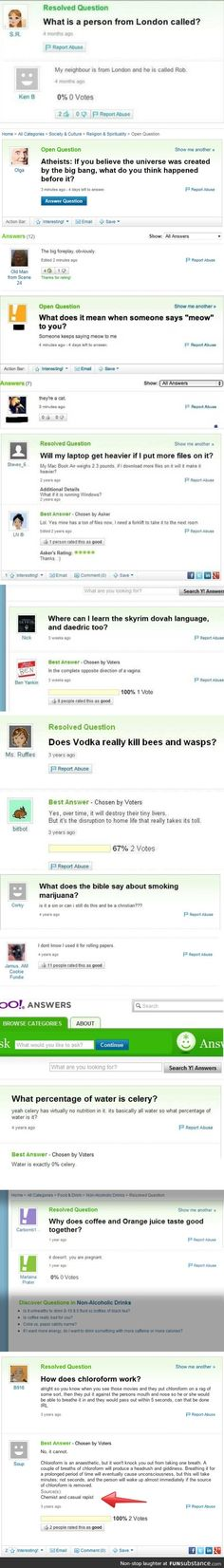 Yahoo answers comp