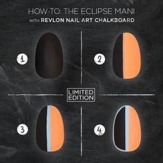 The Eclipse Mani in four simple steps. Using LIMITED EDITION #NailArt Chalkboard. Like or love?