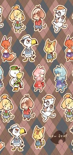 Animal Crossing sparkly bookmarks!!