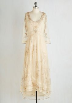 Titanic style wedding party dress - Wine Cellar Celebration Dress in Parchment $259.99 AT vintagedancer.com