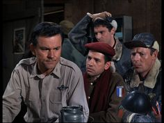 Hogan's Heroes: Season 3, Episode 2 Some of Their Planes Are Missing (16 Sep. 1967),  Bob Crane, Larry Hovis, Robert Clary