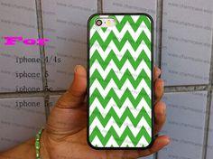 iPhone Caseapple greenwhite Chevron Monogram iPhone by charmcase, $6.99