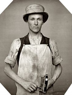 occupational photo of latch-maker, 1850s