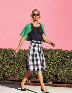 SUCH a cute outfit! That skirt is awesome. Perfect length. Love the elbow-length sleeves and cropped length on the cardigan. Poppy Skirt - Bodenusa.com