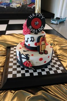 Grease Themed Parties 50s Theme Party Themes 70th Birthday 60th Anniversary Cakes Mom