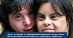 People with Down syndrome must enjoy full and equal rights