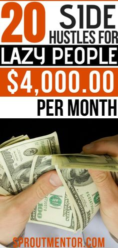 Want to make money online working part-time during your spare hours? Here are 20 side hustles and ways to make money online free you can use to make $4,000 every month. #makemoneyonline #makemoneyonlinefree #workfromhome #makemoneyfast #workfromhomejobs #sidehustles #makemoneyontheside #makemoneyfromhome