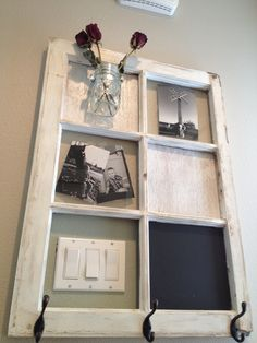 Salvage a window with this awesome DIY home decor idea ! Perfect in a bathroom/anywhere where you need to add some character