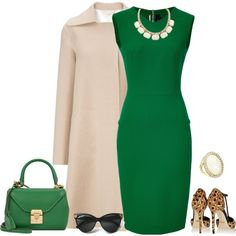 outfit 1262 by natalyag on Polyvore featuring polyvore, fashion, style, Roland Mouret, MANTU, Gucci, Mark Cross, Leslie Danzis and clothing