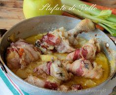 Stufato di pollo con mele yogurt e zenzero ricetta della tradizione #stufato #ricettaconpollo #stufatodipollo