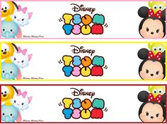 Bookmarks Tsum Tsum Party, Disney Tsum Tsum, Journal Stickers, Planner Stickers, First Birthday Parties, First Birthdays, Tsumtsum, Mickey Mouse Birthday, Disney Crafts