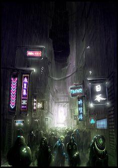 Blade Runner Tribute by ~artificialdesign on deviantART #cyberpunk