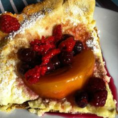dutch baby with fruit fast & simple brunch recipe, great for entertaining.