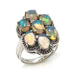 Nicky Butler Ethiopian Opal Sterling Silver Cluster Ring