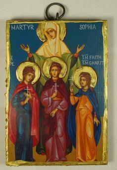 Saint St Sophia the Martyr Russian Handpainted Eastern Orthodox Byzantine Icon