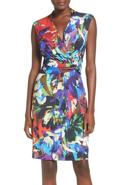 Ellen Tracy Print Sheath Dress (Regular & Petite) available at #Nordstrom