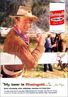 john-wayne-rheingold-beer vintage advertisement