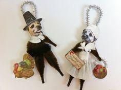 Border Terrier Thanksgiving Pilgrims