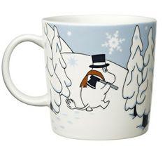Muumi talvimuki Talvimetsä / Winter Forest Moomin mug, winter 2012 Marimekko, Branded Mugs, Moomin Mugs, Tove Jansson, Cute Mugs, Soft Furnishings, Kitchen And Bath, Drinking Tea, Scandinavian Design