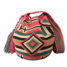 $52.00 Retail Price SMALL Single Thread Colombia Wayuu Mochila Bag | RETAIL + WHOLESALE | Handmade and Fair Trade Wayuu Mochila Bags LOMBIA & CO. | www.LombiaAndCo.com