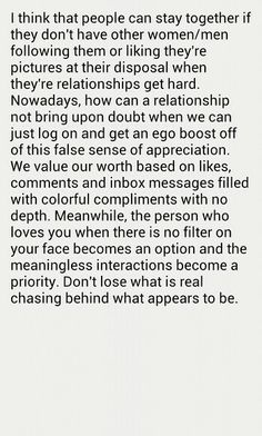 Don't lose what is real Tell My Future, To My Future Husband, Social Media Ruins Relationships, Ring True, Real Quotes, True Words, Self Help, Relationship Quotes, Life Lessons