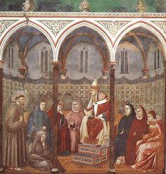 Giotto - La predica dinnanzi a Onorio - Chiesa Superiore di San Francesco, Assisi.