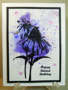 Brusho Coneflower by susanbri - Cards and Paper Crafts at Splitcoaststampers