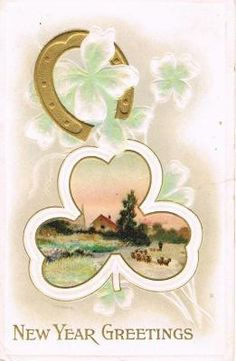 We love vintage horseshoe postcards. Best Christmas Wishes, Merry Christmas To You, Christmas Greetings, Antique Christmas, Gold Christmas, Gold Skies, Love Vintage, Little Girl Toys, Red And Pink Roses